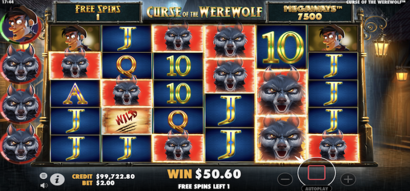 Curse of the Werewolf Megaways Free Spins