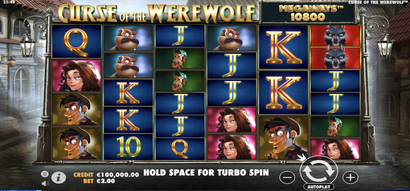 Curse of the Werewolf Megaways Main Game