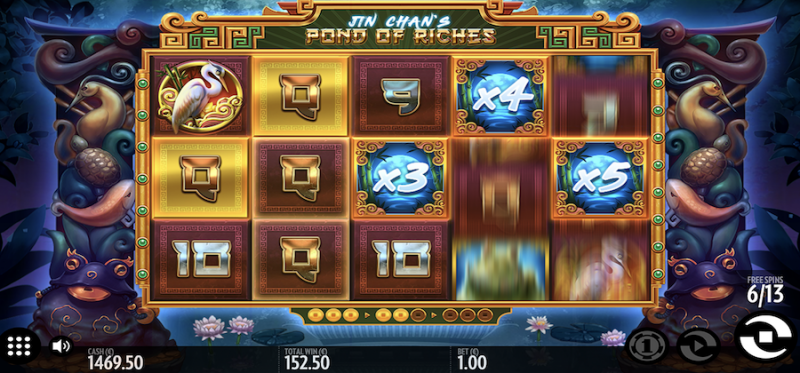 Jin Chan's Pond of Riches Free Spins