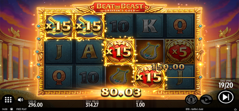 Griffin's Gold Free Spins