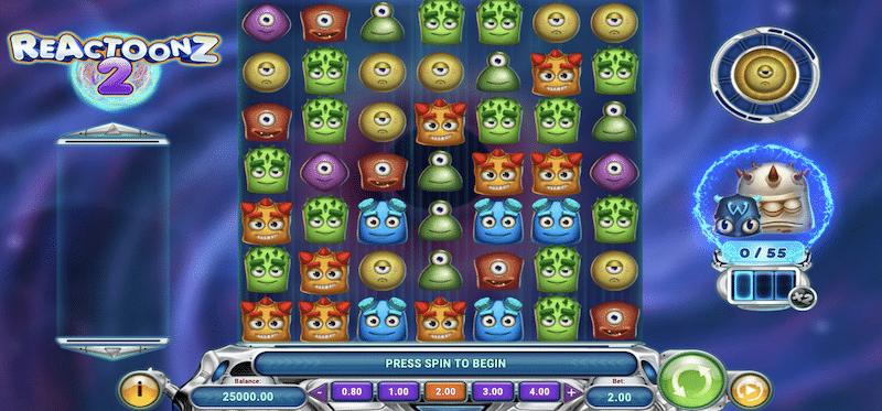 Reactoonz 2 Main Game