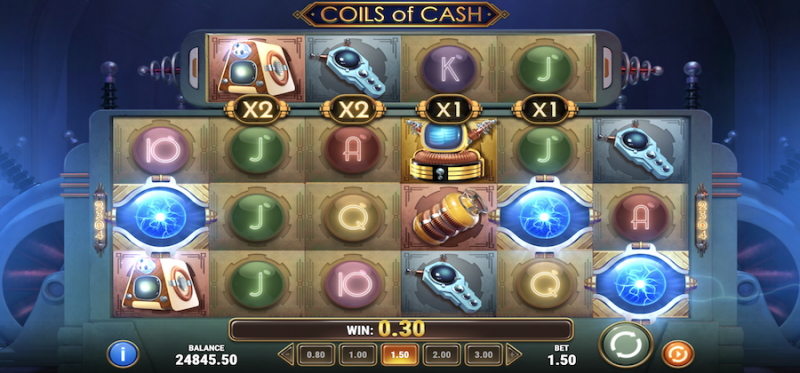 Coils of Cash Scatter Symbols