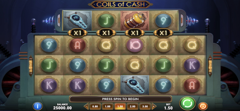 Coils of Cash Main Game