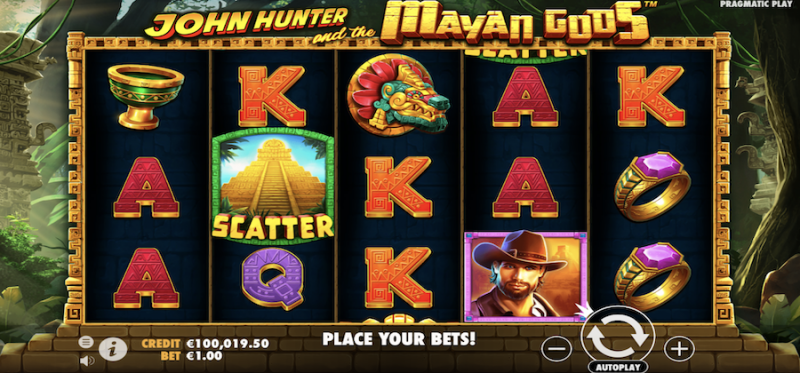 John Hunter and the Mayan Gods Main Game