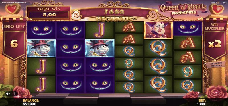 Queen of Wonderland Megaways Free Spins