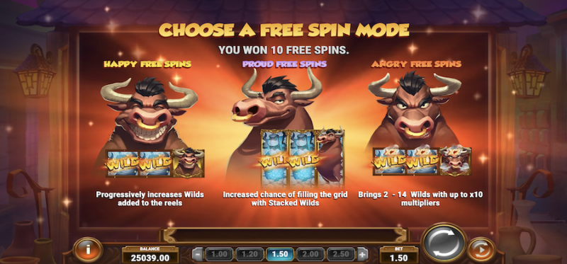 Bull in a China Shop - Free Spins Modes