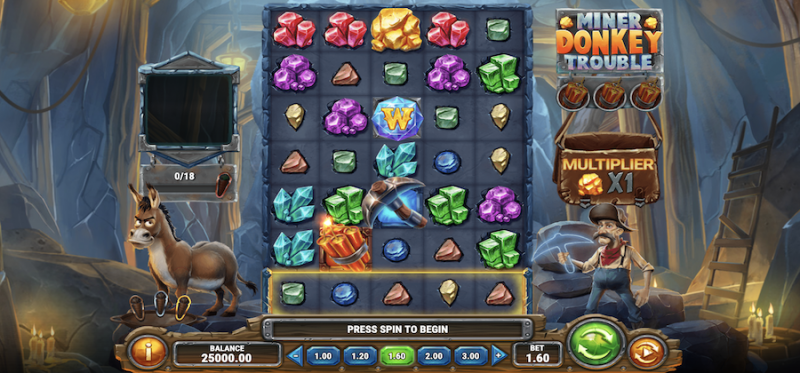 Miner Donkey Trouble Main Game