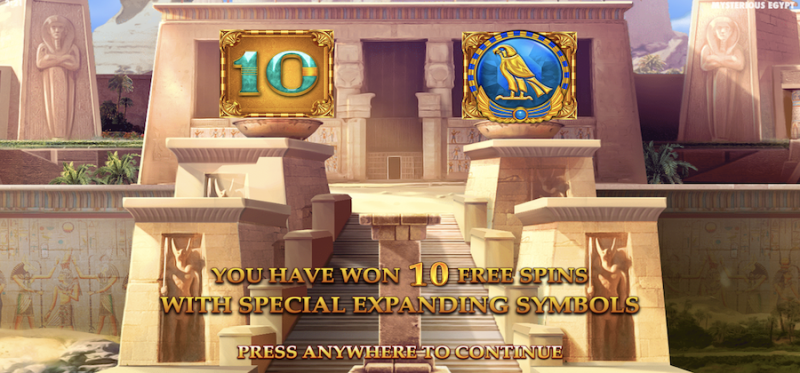 Mysterious Egypt Free Spins