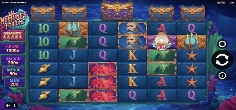 Neptune's Fortune Megaways Main Game