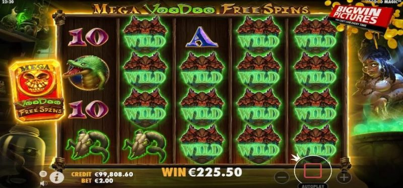 Voodoo Magic Mega Free Spins