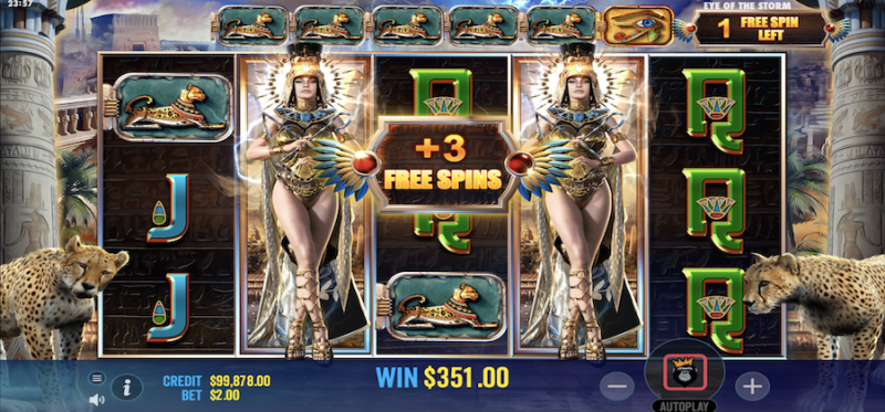 Eye of the Storm Free Spins