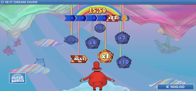 Dream Diver Bonus Game