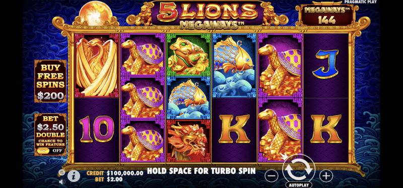 5 Lions Megaways Base Game