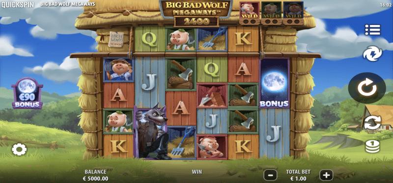 Big Bad Wolf Megaways Main Game