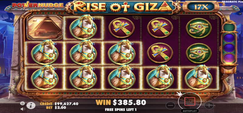 Rise of Giza PowerNudge Free Spins