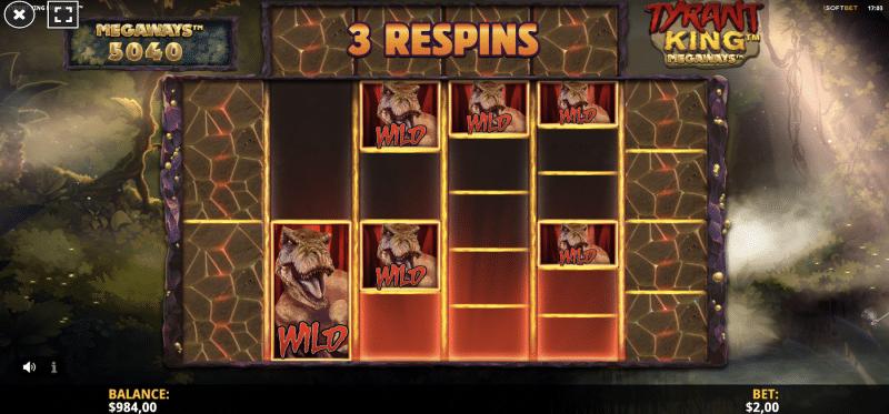 Wild Tyrant Respins