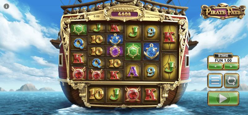 Pirate Pays Megaways Main Game