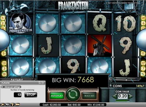 Max bet big win on frankenstein trading binary options on nadex login
