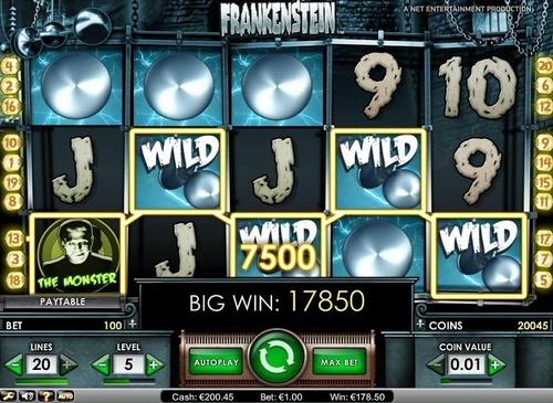 max bet big win on frankenstein